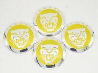 4Pcs 56.5mm Yellow Car Wheel Center Hub Cap Badge Emblem Sticker Fits Jaguar