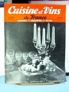 CUISINE ET VINS DE FRANCE REVUE MENSUELLE 7ème ANNÉE N°1 JANVIER 1953 BE*