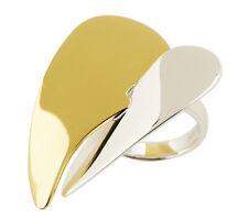 RLM Studio by Robert Lee Morris Sterling Silver Brass Clean Heart Ring Sz 5 QVC