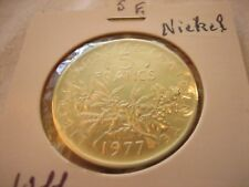 Piéfort 5 Franc 1977 - Nickel  FDC