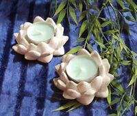 Deko Teelichthalter Lotusblüte Blüte aus Beton / Steinguss für Innen und Außen