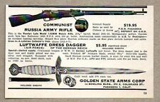 1954 Print Ad Communist Russia Moisin Army Rifle Luftwaffe Dagger Pasadena,CA