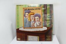 the andrew sisters the greatest of vol. 1 LP