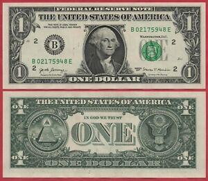 UNITED STATES USA 1 DOLLAR 2017 P544 B NEW YORK BANKNOTE UNC