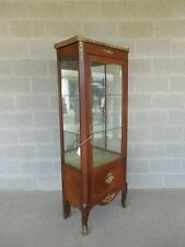 """Vintage French Louis XV Style Lighted Curio Cabinet 24""""W x 65""""H"""