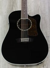Washburn HD10SCE12B Heritage 10 Series 12-String Acoustic-Electric Guitar