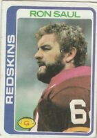 FREE SHIPPING-MINT-1978 Topps  #456 Ron Saul  REDSKINS