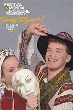 Danseurs Édition 1988 Festival Mondial de Folklore DRUMMONDVILLE Quebec Canada