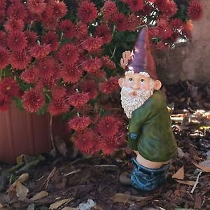 Naughty Garden Gnome for Lawn Ornaments Funny Dwarfs Indoor Outdoor Decor UK NEW