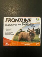 New listing Frontline Plus for small dogs 0-22 lbs - 3 month - Genuine Epa Approved!