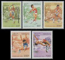 LAOS N°1173/1177** Jeux Olympiques perche, javelot, marteau...1995 Olympics  MNH
