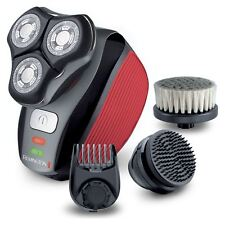 Remington Afeitadora eléctrica giratoria Flex 360 Grooming Kit-Barba Trimmer & Cepillos