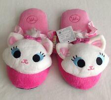 Women Adult Disney Marie Soft Plush Slippers Shoes US size 6-10, UK 4-8