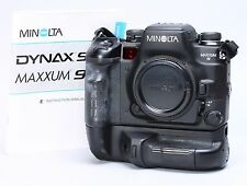 MINOLTA MAXXUM α-9 35mm FILM CAMERA W/ VC-9 GRIP -- EX++!!