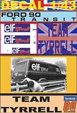 DECAL 1/43 FORD TRANSIT TEAM TYRRELL ELF (03)