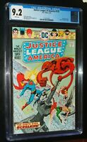 JUSTICE LEAGUE of AMERICA #129 1976 D.C. DC Comics CGC 9.2 NM- White Pages