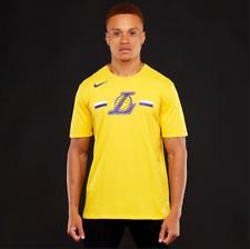 Nike Men's Los Angeles Lakers Fan T Shirt XL Yellow Purple Casual Gym Basketball