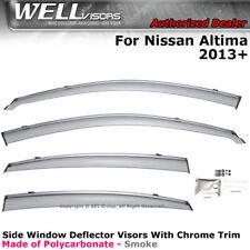 WELLvisors For Nissan Altima 2013-2018 Side Clip on Window Visors Chrome