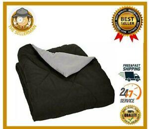 Thick Comforter Duvet Insert Ultra Plush Down Alternative Gray Queen Size Gift