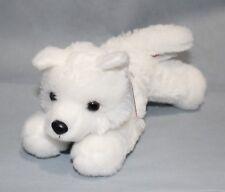 """Aurora ARCTIC WHITE WOLF 8"""" Plush Mini Flopsie Stuffed Animal NEW"""