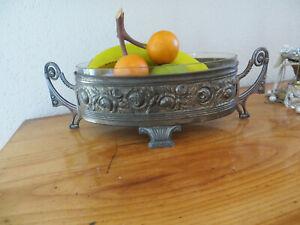antike Jardiniere Schale mit Glaseinsatz Jugendstil um 1900 !