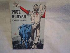 1963 PAUL BUNYAN SWINGS HIS AXE PAPERBACK,dell j.mccormick,scholastic 1st print.