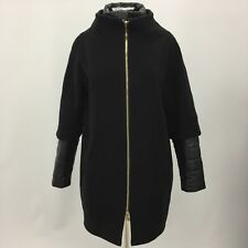 HERNO lana nero maxi palla Cappotto invernale chic donna taglia UK14 16 EU46 3763