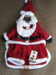 """NWT SANTA Costume For Dogs Size Large 18""""-20"""" Christmas Fun Williamstown Home"""