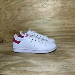 Adidas Stan Smith Sneakers Women's 5 White Pink B32703 Casual Shoes