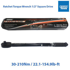 "Draper High Quality Ratchet Torque Wrench 1/2"" Square Drive 30-210Nm 64535"