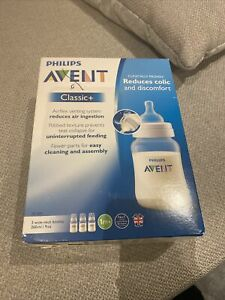 Phillips Avent Classic+ Bottles X3 1m+ New In Box