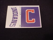 VINTAGE 1980's Cleveland Indians Fleer Team Logo Sticker Card, VERY NICE!!