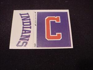 VINTAGE 1979 Cleveland Indians Fleer Team Logo Sticker Card, VERY NICE!!