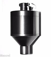 "Powder Grinder 2.12"" Spice Hand Mill Funnel Snuff Snorter Glass Vial - Metal"