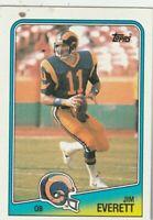 FREE SHIPPING-MINT-1988 Topps #288 Jim Everett Rams PLUS BONUS CARDS