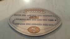 San Francisco 49ers Football Two Track Cribbage Board