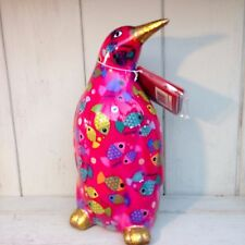 Pomme Pidou Cezar Penquin  funky Moneybox Pink fish (with Gorgeous Gift Box)