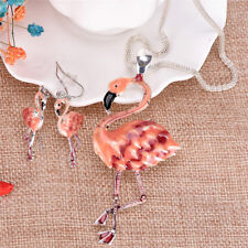 Pendant Flamingo Necklace Earrings Set choker New Pip Womens Jewelry Set new