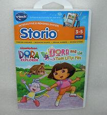 VTech Storio Software Cartridge Book Game Dora The Explorer Three Little Pig X 6