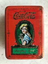 Coca Cola Playing Cards Tin 2 Decks Sealed Box Coke Lady 1980