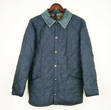 """Barbour Jacket D891 Classic Eskdale Blue Quilted Relaxed Fit 36"""" Ex Small XS"""