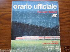 ITALY Train Timetable Orario dei treni ufficiale FS 1990-1991 Amtliches Kursbuch