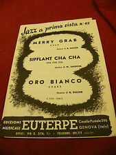Partition Jazz a Prima Vista Merry Grab Sifflant Cha Cha Oro Bianco Dolter
