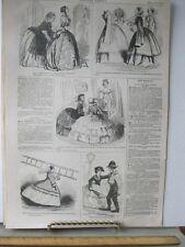 Vintage Print,HOOP SKIRT PROBLEMS,Harpers,1857