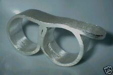 Ring für zwei Finger, Silber, Flamere Design by Dieter Fischer,  50 - 62