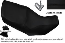 BLACK STITCH CUSTOM FITS HONDA XL 1000 V VARADERO 99-07 DUAL LEATHER SEAT COVER