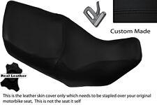 BLACK STITCH CUSTOM FITS HONDA XL 1000 V VARADERO 99-07 DUAL LEATHER SEAT COVER