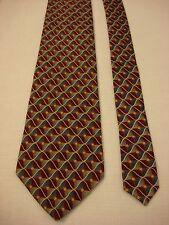 VAN HEUSEN Men's Silk Neck Tie - Red and Blue Checkered Print