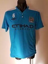 Manchester City Football Soccer Team Club Jersey No 6 Men's Size Medium Umbro