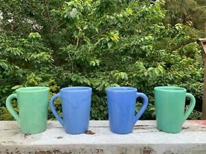 Vintage Catalina Island Pottery Set of 4 Coffee Mugs